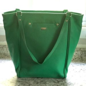 Leather Green Tote